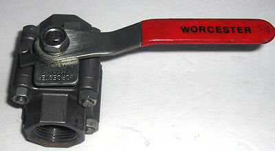 "Worcester Controls 446 Ball Valve Series 44 1"" Lever Handle SS NPT 1-466PVSE QTY"