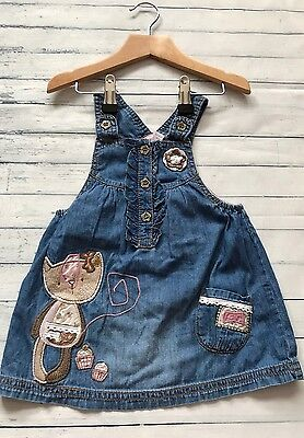 Baby Girls Clothes 6-9  Months - Cute Next Denim Dress -
