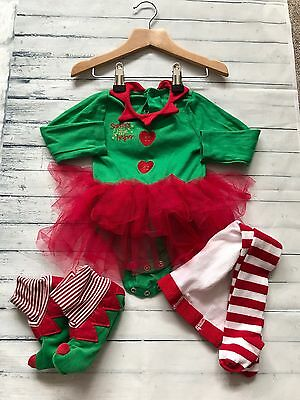 Baby Girls Clothes Outfits 9-12 Months - 3 Piece Christmas Tutu Outfit
