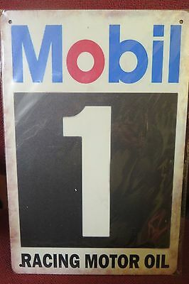 mobil 1 racing motor  oil   tin metal sign MAN CAVE brand new