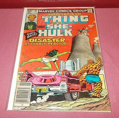 1982 Marvel Comics THE THING and SHE HULK COMIC BOOK VOL 1 JUNE 88 Acceptable