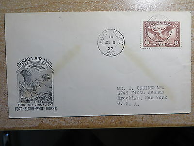 Canada, Fort Nelson - White Horse 1937, First Flight      Free Shipping