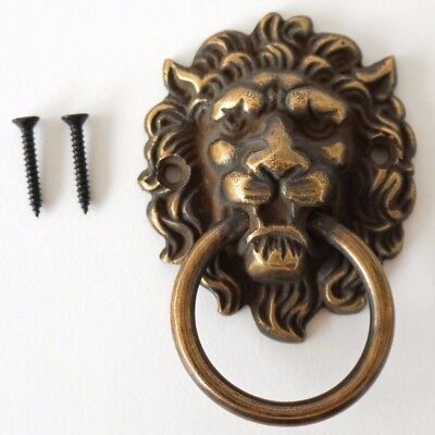 Lion Brass Door Knocker Vintage Antique Victorian
