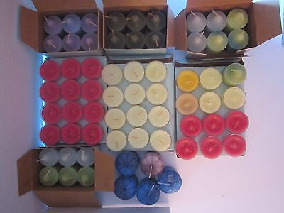 60 partylite 35-tealight & 25-votive candle lot. Citrus, Lemongrass, agave