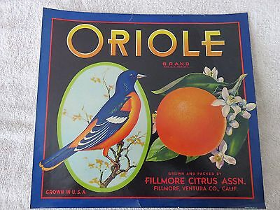 Oriole Brand Orange Crate Label