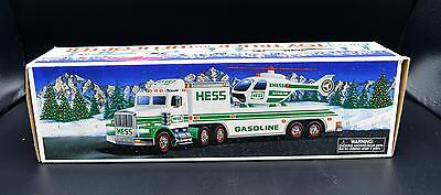 New Hess Gasoline 1995 Toy Truck and Helicopter In Box