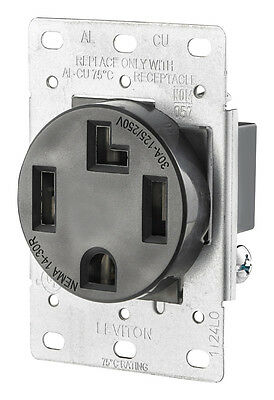 Leviton 278-S00 4-Wire, 30-Amp, 250V Flush Mount Dryer Receptacle