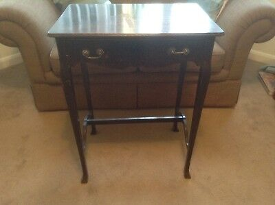 Edwardian Mahogany Side Table With Draw