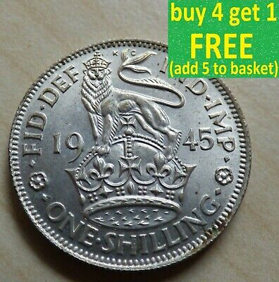 George VI 1 Shilling English Scottish Silver Coins Choose your date 1937-1951