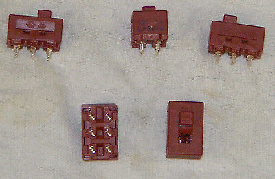 PCB Mounting Slide Switches DPDT. Rated 8 Amp at 125 Volts a.c.