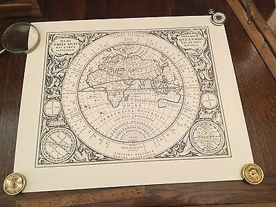 Antique Vintage Astronomy Astrology Map Chart Lithograph Print Engraving 1 of 7