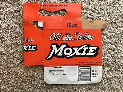 Vintage Moxie Cardboard Six Pack Bottle Holder