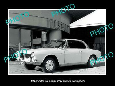Old Large Historic Photo Of Bmw 3200 Cs Coupe 1962 Launch Press Photo
