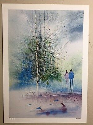 Native American Indian Litho Print hand signed Bert Seabourne 87