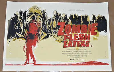 Zombie Flesh Eaters Mondo Limited Edition Poster UK Variant Lucio Fulci Nasty