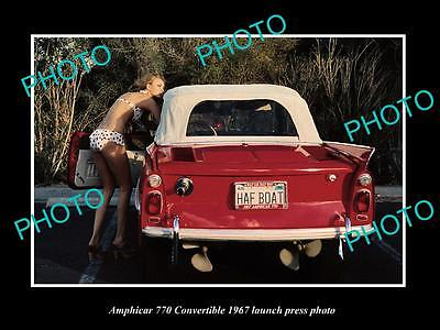 Old Large Historic Photo Of 1967 Amphicar 770 Convertibles Launch Press Photo