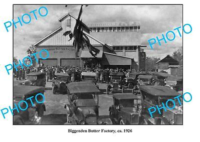 OLD LARGE PHOTO QLD, BIGGENDEN CO-OP BUTTER FACTORY c1926