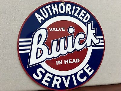 Buick service  advertising round sign garage man cave oil gas