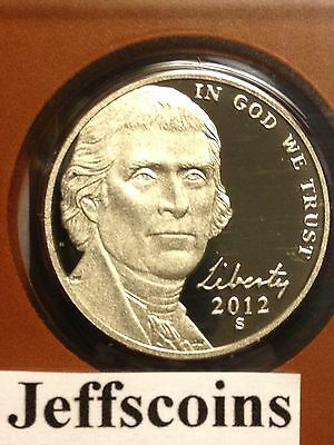 2012 S Mint Proof Jefferson Nickel Early Strike Ultra Cameo 5¢via US Mint Set PD