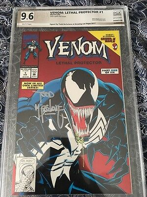 Venom The Lethal Protector 1 PGX 9.6 Signed By Todd McFarlane Not Cgc CBCS NM+