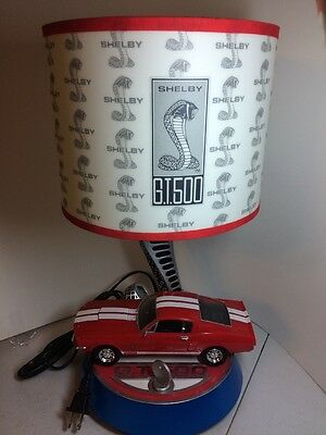 Nice!!! King America FORD MUSTANG COBRA Shelby GT 500 TABLE LAMP w/ ENGINE SOUND