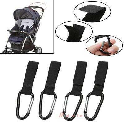 4PCS Universal Mummy Buggy Clip Pram Pushchair Stroller Hook Shopping Bag Clip