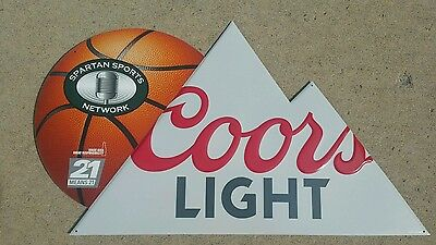 Coors light michigan state spartans bar sign....free shiping