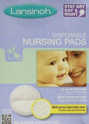 Lansinoh 20265 Disposable Nursing Pads, 60-Count Boxes (Pack of 4) - NEW