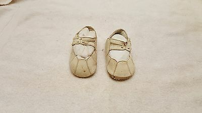 Antique Vintage Old Leather Victorian  Button Baby Doll Child Boots Shoes
