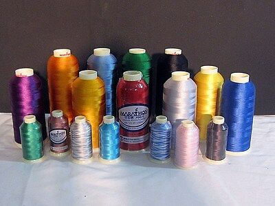 10 Cones 1000M Embroidery Machine Thread Marathon Best Sewing Stitch Yam Cotton