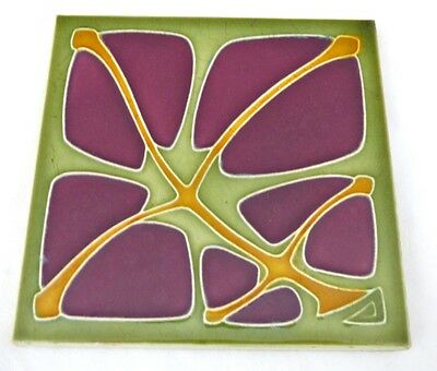 Wow German SERVAIS Art Nouveau Tile Secessionist Carreau FLOWER 1900 Jugendstil