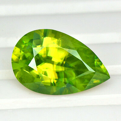 4.23 Cts Natural Top Sphene Madagascar Pear Cut Loose Gemstone if japan quality
