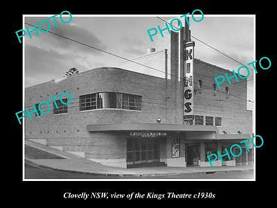 OLD LARGE HISTORICAL PHOTO OF THE KINGS THEATRE, CLOVELLY NSW c1930