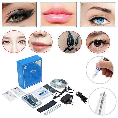 Profi-Permanent Makeup Tattoo Maschine Stift + 1/3R Needle Für Augenbrauen Lippe