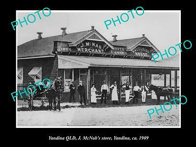 OLD LARGE HISTORIC PHOTO OF YADINA QUEENSLAND, VIEW OF McNABS GENERAL STORE 1909