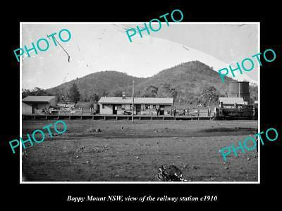 OLD LARGE HISTORIC PHOTO OF BOPPY MOUNT NSW, VIEW OF THE RAILWAY STATION c1910