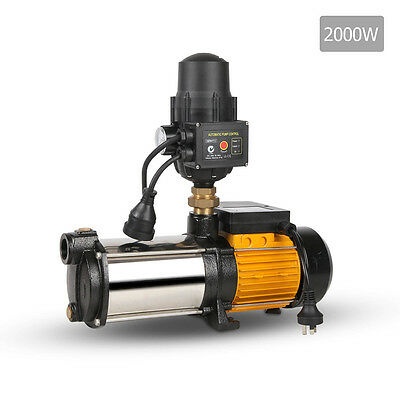 NEW 7200L/H 2000W Self-priming 4 Stage Garden Pressure Water Pump w/ Controller
