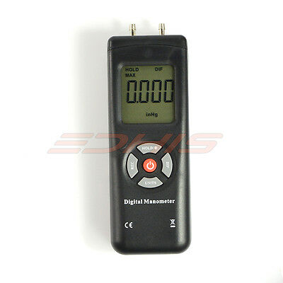 Digital Manometer Pressure Gauge Range -2 to 2 psi Differential Pressure Meter