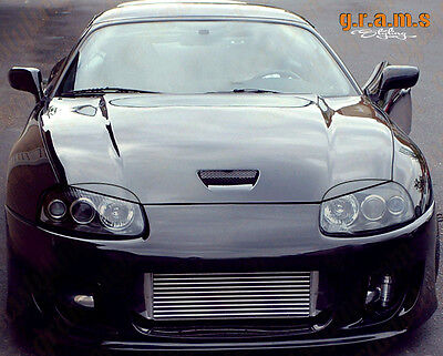 Toyota Supra Carbon Fiber Headlight Eyebrows Eyelids choose from 3 Types v7