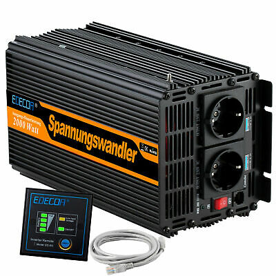 Convertisseur 2000W 4000 Watt 24V 220V Onduleur Power Inverter Car Camping Boat