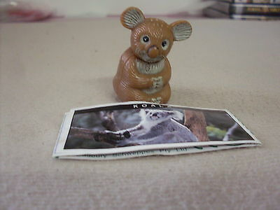 Yowie Yowies Series 1 Variation Brown Koala With Green Paper Intact