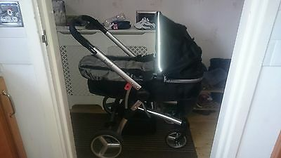 pushchair and carry cot and car seat