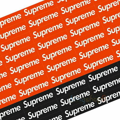 20-100Pcs Supreme Box Logo Sticker Red Or Black Stickers Snowboard Luggage Decal