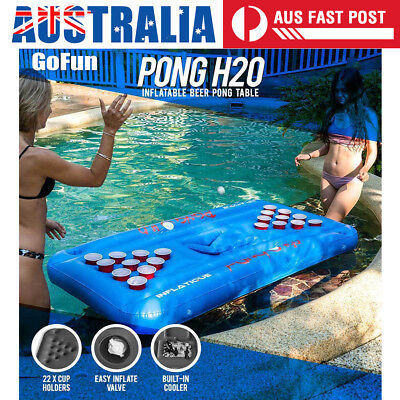 Party Barge Inflatable Beer Pong Table Pools Rivers Lakes Cooler Floating Lounge