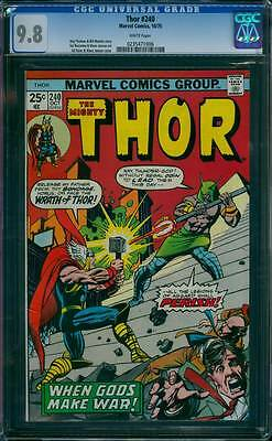 Thor # 240  When Gods Make War !  CGC 9.8 scarce book !