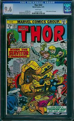 Thor # 242  When the Servitor Commands !  CGC 9.6 scarce book !