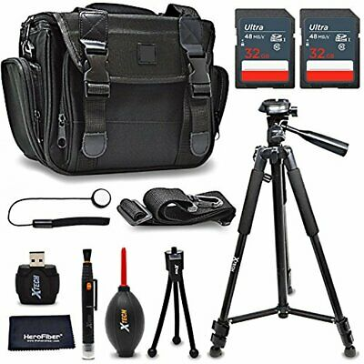 Xtech Accessories Kit for Canon EOS 80D with 64GB Memory, Case, Tripod