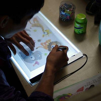 A4 Ultra Thin Art Stencil LED Light Pad Tracing Board Animation Drawing Box
