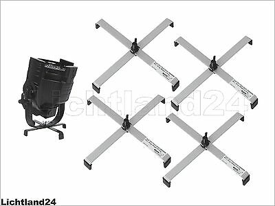Pack of 4 Floor Stand for Headlight FS-3 Floorstand, Steel, Silver up to 25 kg