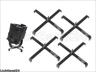 Pack of 4 Floor Stand for Headlight FS-3 Floorstand, Steel, Black up to 25 kg
